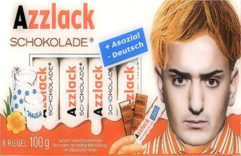 Azzlack schoki schokolade haftbefehl lustig