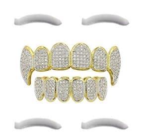 Gold Grillz Diamant steine