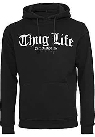 Thug-Life-Pullover-Herren-schwarz