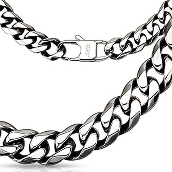 Königskette-Silberkette-Königsarmband-Herren-Bling